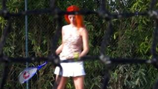 Look at this red haired beauty playing tennis looking totally filthy