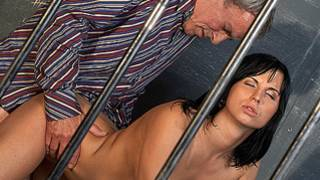 Dirty whore is having a great time with a filthy and horny burglar