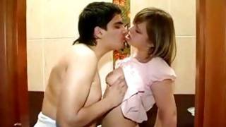 Porn made by amateurs in a washroom including sinful voluptuous lovers