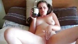 Active actress with pony tails rubbing her nasty pussy