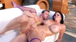 Divine strumpet is hammered with meaty sex-toy
