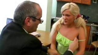 Disobedient bright-haired slut is getting her touched by a rude somebody