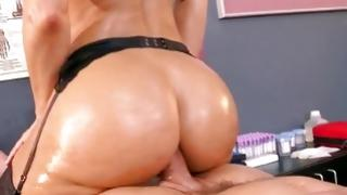Glamorous doxy is nasty eating away the hard penis
