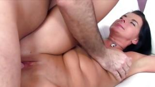 Hard soaked slut is absorbing a muscular dick