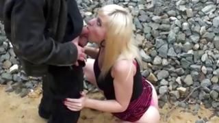 Disobedient doxy got her a-hole touched by a horney fellow