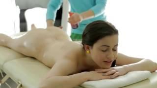 Pleasant girlfriend is getting her sexy massaged