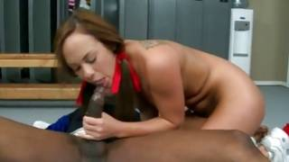 Black man gets his penis rubbed by depraved girl