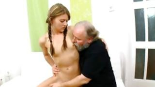 Watch my chick who doesn't mind giving a French this old dissolute creature