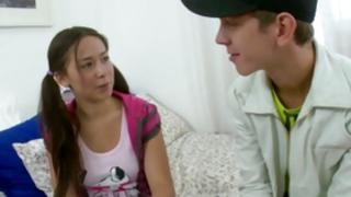 Disobedient hoe is attentively listening to a horrible abdl anybody