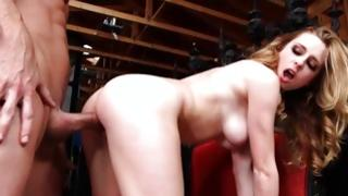 Charming tramp is sexually riding on vulgar dick