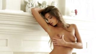 Excellent hooker is sexually masturbating