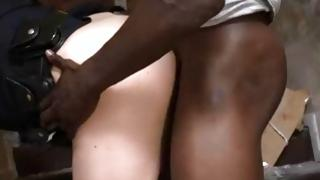 Dark-skinned guy has MMF sex with 2 whores