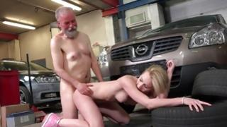 Sexy old and little fuck with sultry blondie