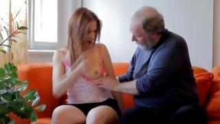 Dressy gaffer seducing diaper lover wench