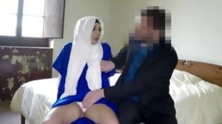 Shy arabic cutie acquires teased and face banged