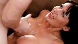 Horny MILF teaches her son to fuck