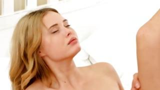 Peerless bright-haired blooming used in beautiful cum-hole