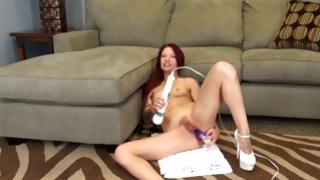 Bitty love is having heavy rubbing of her cunt by her worthwhile toy-joystick
