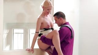 yellowish haired secretary is doing whatever to satisfy her controlling male