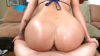 Nice girlfriend is having a glamorous sex with her beefy Mr.