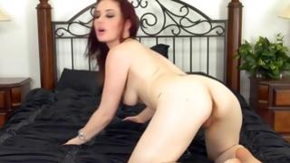 Deviant and flashing model is demonstrating her sexual intercourse illusions to her male