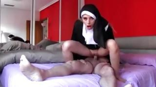 Holy fuck with amazing sister and misbehaving priest
