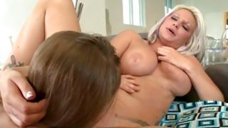 Feel beautiful hussies in irrational lesbian action of take pleasure in