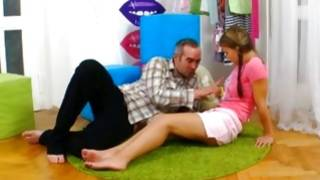 Passionate amazing gf is touched on flesh by guy