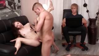 Man examining an amazing fucking from sexy couple