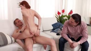 Strong horny guy is depraved fucking a beauty
