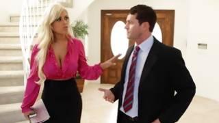 Watch seductive hooker wearing bizarre pink blouse