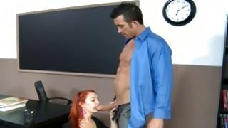 Pleasant young gf is shy while is with her teacher