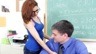 Kinky sexy young gf is touching her teacher