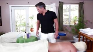 Terrible dude is going to massage a bitch