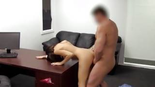 Precious young gf slightly bending for being fucked