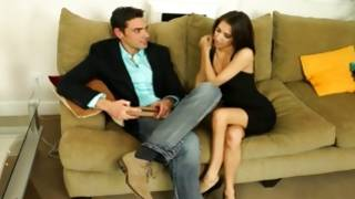 Watch insanely hot couple where dear wearing nice dress