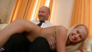 Blonde hot importance has her breasts sucked off by the aroused old fellow