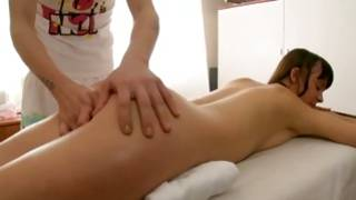 Wonderful slut is getting her massaged and fingered by a coldhearted stud