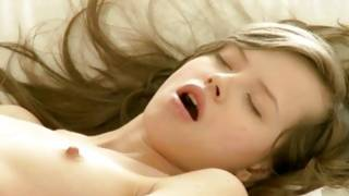 Sultry infant bitch is sexually undressing herself
