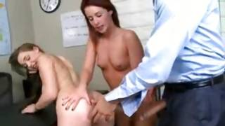 Luscious 2 males 1 female where 2 angels are fucked by a tutor