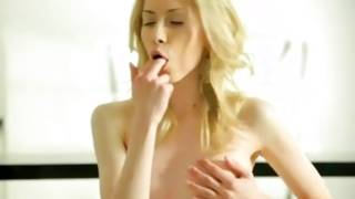 Natural blonde glamorous slut is fingering sexually her beyond comparison muff