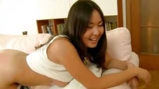 Asian sluttish hottie is giving the pure headjob
